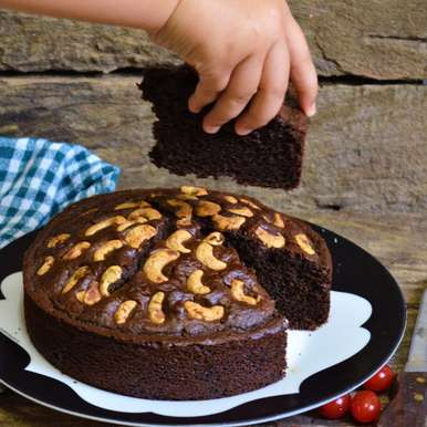 Photo of Healthy Chocolate Nut Cake by Femina Shiraz at BetterButter