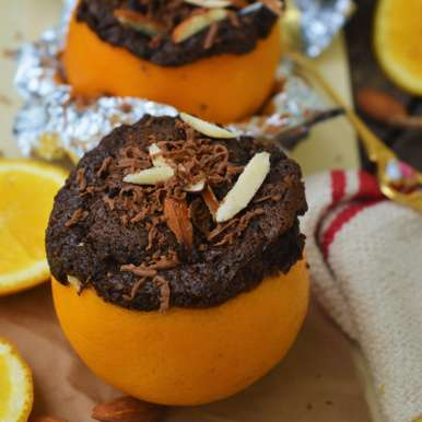 Photo of Chocolate Cupcakes in Orange Peels by Femina Shiraz at BetterButter