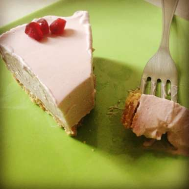 Photo of No bake pomegranate mousse tart by Flours Frostings at BetterButter