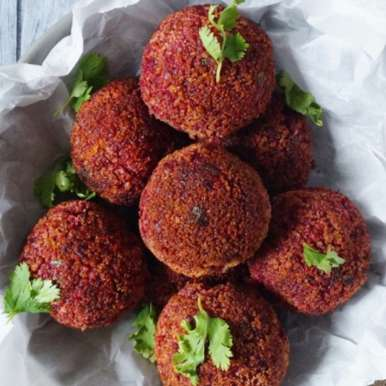 Photo of Cheesy beetroot croquettes by Freda Dias at BetterButter
