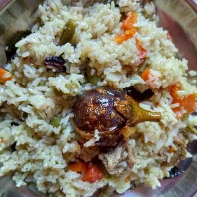 Vegetable pulav recipe in Telugu,వెజిటబుల్ పులావ్, Gadige Maheswari