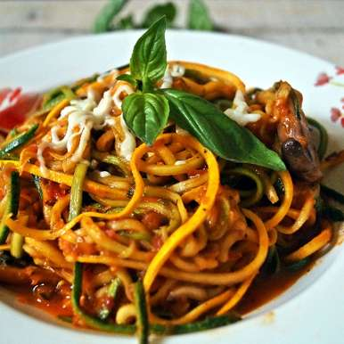 Photo of Zucchini Pasta in Tomato Basil Sauce by Garima Gautam at BetterButter