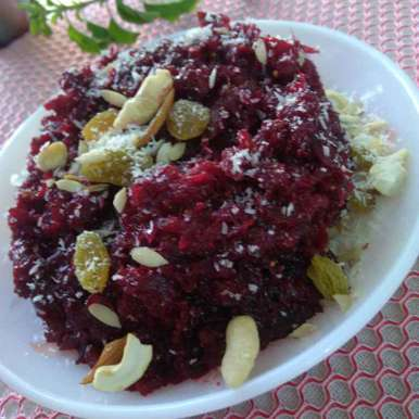 Photo of Beet Root and Fig Halwa by Geeta Sachdev at BetterButter
