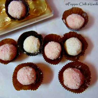 Photo of White Chocolate and Coconut Truffles by Gloria Fernandes at BetterButter