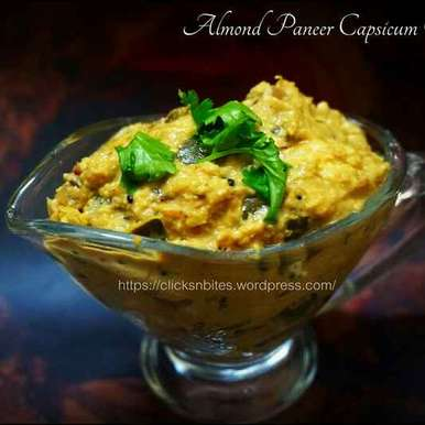 Photo of ALMOND PANEER CAPSICUM CURRY by Gouthami Yuvarajan at BetterButter