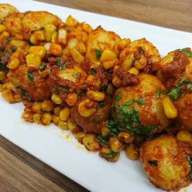 Photo of Spicy Corn Aloo by Hamida Abid at BetterButter