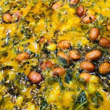 Amaranth leaves muddipalya(muddapappu) recipe in Telugu,తోటకూర ముద్దీపల్య(ముద్ద పప్పు), Harini Balakishan