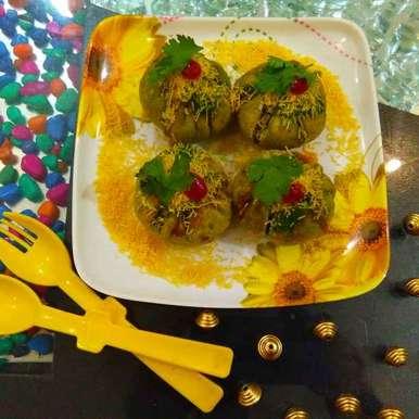 Palak kachori recipe in Gujarati, પાલક કચોરી, Harsha Israni