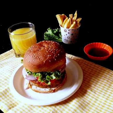 Photo of restaurant  style burger by Hem Lata Srivastava at BetterButter