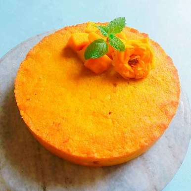 Photo of Mango chhena poda(Roasted mango cheese cake) by Illa Kanungo at BetterButter