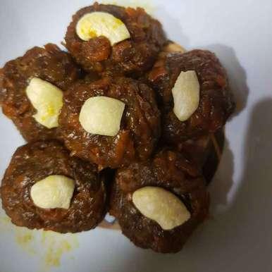 Photo of Carrot jaggery laddu by Indira Bhaskar at BetterButter