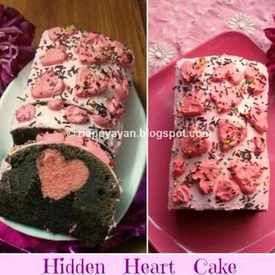 Photo of Hidden Heart Chocolate Cake by Indrani Dhar at BetterButter