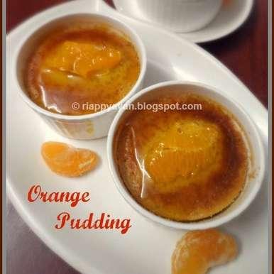 Baked Orange Pudding with Orange Syrup, How to make Baked Orange Pudding with Orange Syrup
