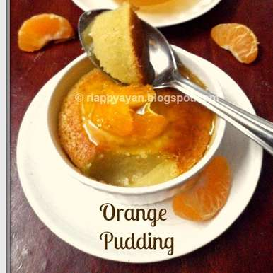 Photo of Baked Orange Pudding with Orange Syrup by Indrani Dhar at BetterButter