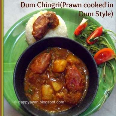 Photo of Chingri macher Dum (Prawns cooked in dum style) by Indrani Dhar at BetterButter