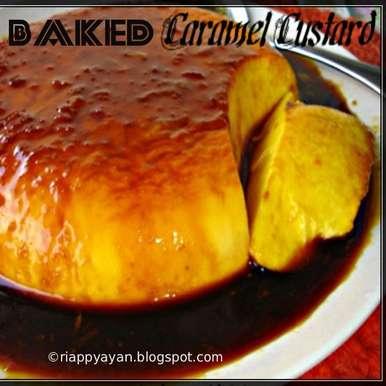 Baked Caramel Custard with orange flavoured Caramel Sauce, How to make Baked Caramel Custard with orange flavoured Caramel Sauce