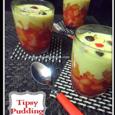 Photo of Tipsy Pudding or English Triffle by Indrani Dhar at BetterButter