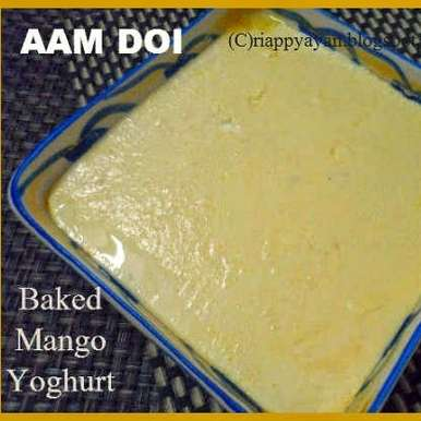 Photo of 3 ingredients Baked Mango yogurt by Indrani Dhar at BetterButter
