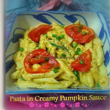 Pasta in Creamy Pumpkin & Carrot Puree, How to make Pasta in Creamy Pumpkin & Carrot Puree