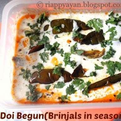 Doi Begun (Brinjal slices dipped in seasoned yogurt), How to make Doi Begun (Brinjal slices dipped in seasoned yogurt)