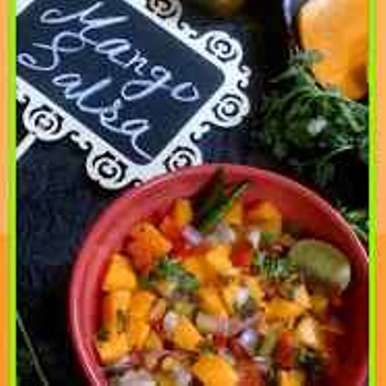 Mexican Mango Salsa recipe in Bengali, মেক্সিকান ম‍্যাঙগো সালসা, Indrani Dhar