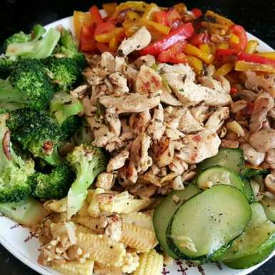 Photo of Stir-Fry Chicken Salad by Insiya Kagalwala at BetterButter