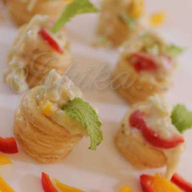 Photo of Vol Au Vents with cheese sauce. by Ishika Uppal at BetterButter