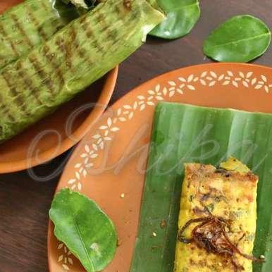 Photo of Otak Otak (Nyonya fish custard wrapped in banana leaf and pan seared) by Ishika Uppal at BetterButter