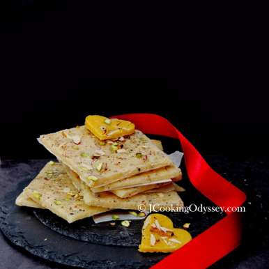 Photo of Golden and Ice Bombay Halwa by Jagruti D at BetterButter