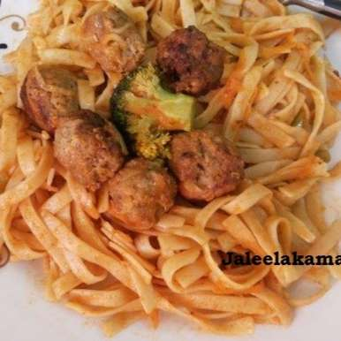 Meat Ball Fettuccine, How to make Meat Ball Fettuccine