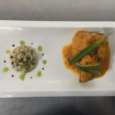 Photo of Chicken with roasted bell pepper & tomato sauce by Jaspreet Singh at BetterButter