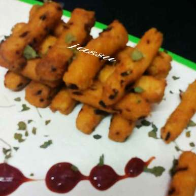 Suji french fries recipe in Hindi,सूजी फ्रेंच फ्राइज, Jassu Sehdev