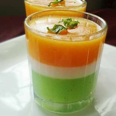 Photo of Tri Colored Mango Coconut jelly by Jaya Rajesh at BetterButter