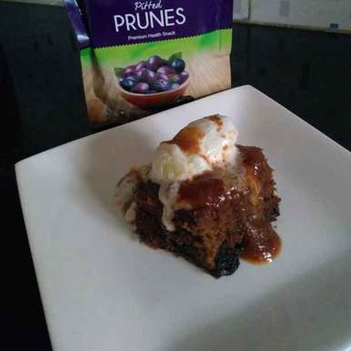 Photo of Spiced Prune Pudding with Caramel sauce. by Jaya Rajesh at BetterButter