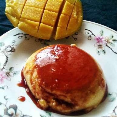 Photo of Eggless Mango Cream Caramel by Jaya Rajesh at BetterButter