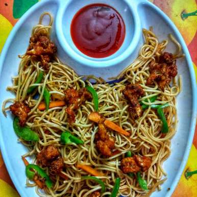 Gobi Noodles recipe in Tamil,கோபி நூடுல்ஸ், Jayasakthi Ekambaram
