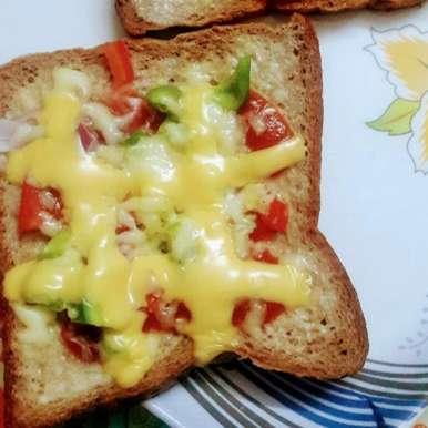 Photo of Whole wheat bread pizza by Jonnadula Madhu at BetterButter