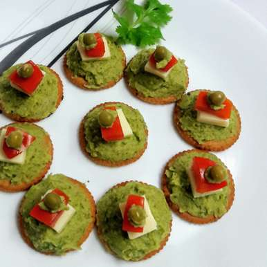 Mint Canapes, How to make Mint Canapes