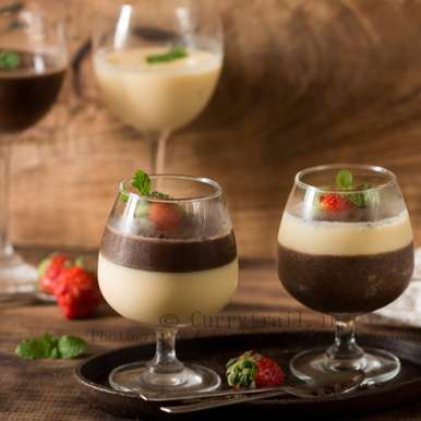 Photo of Chocolate and Vanilla Panna Cotta by Jyothi Rajesh at BetterButter