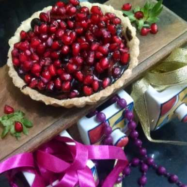 Photo of Strawberry and Chocolate Pie by Kalpana Vinay at BetterButter