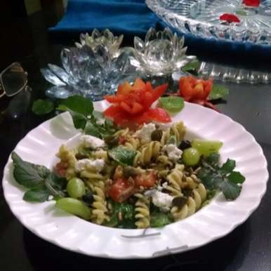 Photo of Pasta Salad with Avocado dressing by Kalpana Vinay at BetterButter