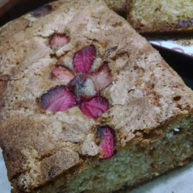 Photo of Strawberry flavored Almond Teabread by Kalpana Vinay at BetterButter