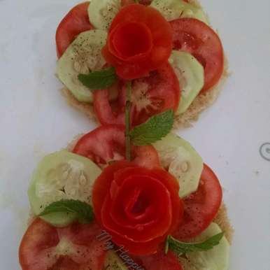 Photo of Open Sandwich  by Kalpana Vinay at BetterButter