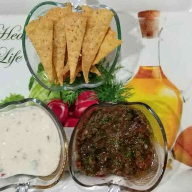 Photo of Nachos with creamy cheese dip and salsa by Dr.Kamal Thakkar at BetterButter
