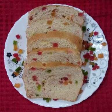 Tutti frutti milk bread recipe in Hindi,टूटी फ्रूटी मिल्क ब्रेड, Dr.Kamal Thakkar