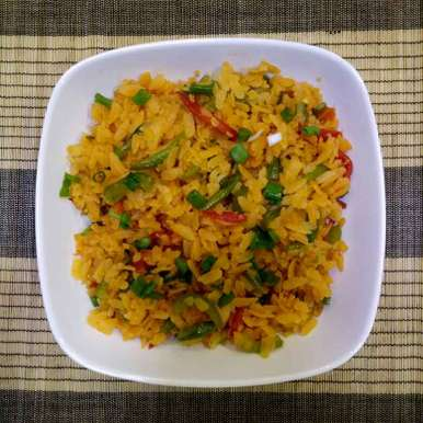 Photo of Schezwan Poha by Dr.Kamal Thakkar at BetterButter