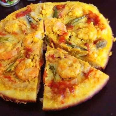 Photo of Prawn malaikari pizza by Kamalika Bhowmik at BetterButter