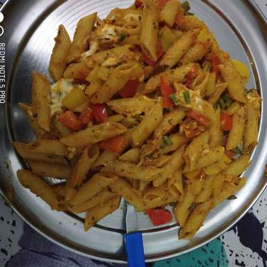 Photo of red sauce pasta by Kanica Goel at BetterButter