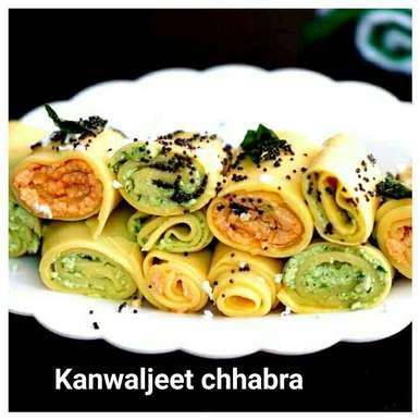Photo of Paneer (cottage cheese - stuffed) khandvi by Kanwaljeet Chhabra at BetterButter