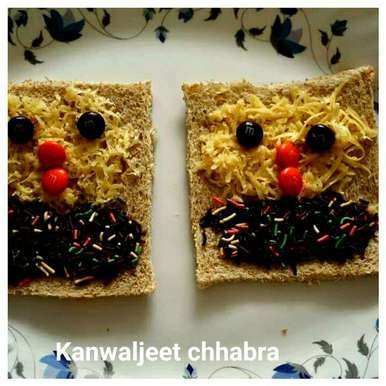 Photo of Open sweet sandwich for your little valentine. by Kanwaljeet Chhabra at BetterButter